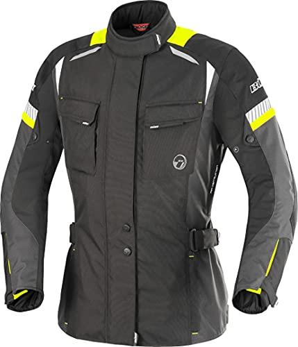 Büse Breno Damen Motorrad Textiljacke 44 Schwarz/Neon