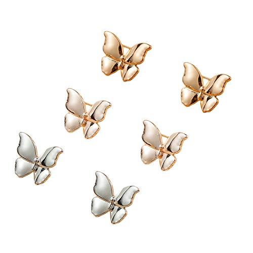 Pendientes de tuerca con forma de mariposa para mujer, de plata de ley 925