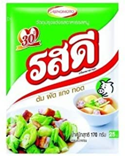Rosdee - Pork Flavor Seasoning Powder 170g. [Use As Seasoning Mix or Thai Clear Soup Base]
