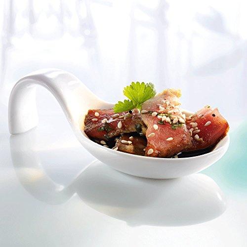 ana® - HOMMAGE Partylöffel | 6 Stück | optimal für Dips und Fingerfood | aus Porzellan (10,3 x 5 x 3 cm)
