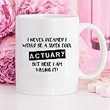 Actuary Actuary Gifts Clerks - Taza de café con seguro, regalo de cumpleaños, actuario, regalos divertidos para él padrinos, regalos de graduación