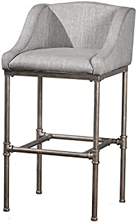 Hillsdale Furniture Wooden Barstool in Silver
