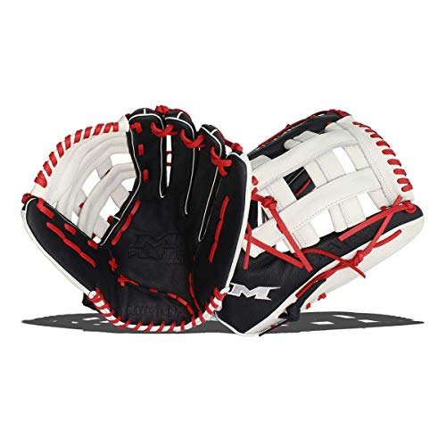 Miken Player Series Slowpitch Softball Glove, 15 inch, Right Hand Throw, PS150-PH-01