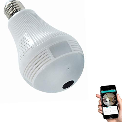 HD 1080P Light Bulb Camera, Include 16GB Card 2.4GHz Wireless Security IP,...