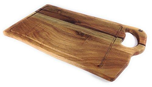 prosharp® Generale tagliere professionale Carne in legno massiccio naturale/sotto di piatti/Vassoi formaggio, salumi/Presentazione hors-d\' Opera, tapas, Noce, 25X50X2CM