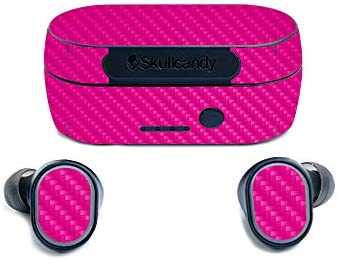 MightySkins Carbon Fiber Skin for Skullcandy Sesh True Wireless Earbuds Hot Pink Protective product image