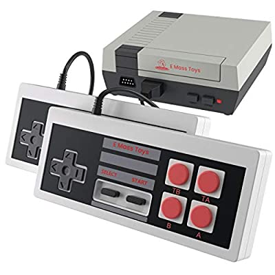 Emass Brick Retro Game Console - Built-in FC Classic Video Games- AV Output - Two Sensitive Joysticks- Ideal for Kids and Adults by EMAAS