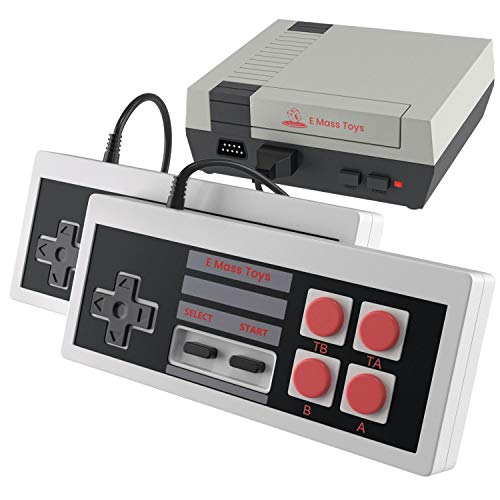 Emass Brick Retro Game Console - Built-in FC Classic Video Games- AV Output - Two Sensitive Joysticks- Ideal for Kids and Adults