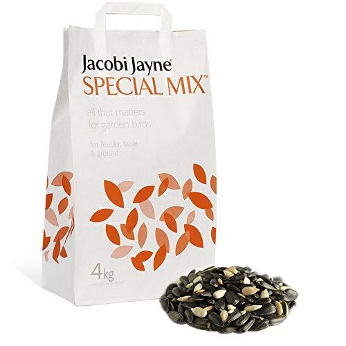 Jacobi Jayne Original Special Mix, Weizenfrei, Gerstenfrei, Abfall-Vogelfutter für Gärten, ohne Kunststoffverpackung, 4 kg, Schwarz, 4kg