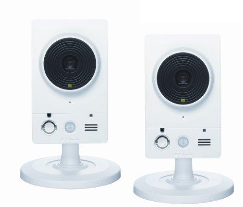 D-Link DCS-2230 * 2 Set, bestehend aus 2 HD IP-Kameras mit 2 Megapixeln, Nachtsicht, WLAN Ethernet, Weiß
