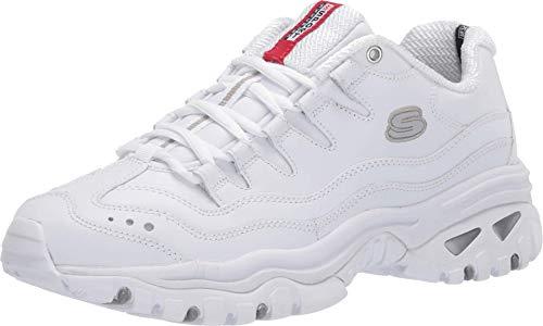 Skechers Energy-Brunkz, Scarpe da Ginnastica Uomo, Bianco (White Smooth Leather/White Trim Wht), 42.5 EU
