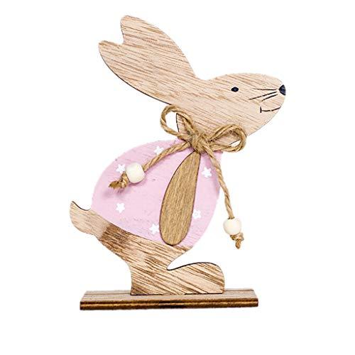 Seguire Easter Wooden Ornaments, Wooden Rabbit Shapes Ornaments Craft,Wooden Bunny Desktop Decorations Easter Gifts Decor,Rabbit Shapes Ornaments Craft Gifts Easter Tree Ornaments Party Gift Tags