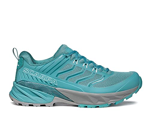 SCARPA Women's Rush Shoes for Hiking and Trail Running - Aqua - 8