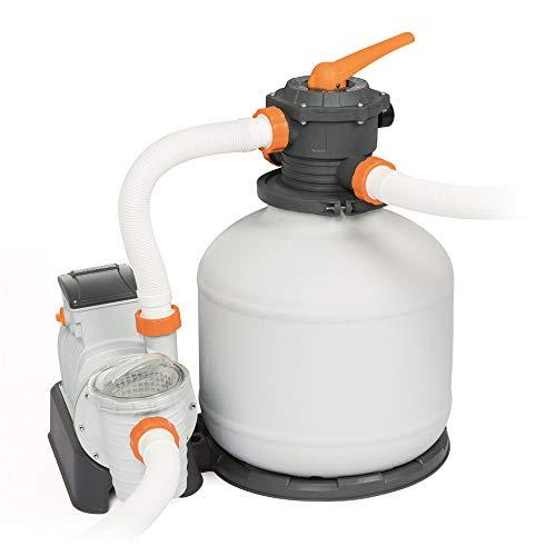 Sandfilteranlage Bestway Flowclear Filterpumpe Sandfilter System Poolreinigung (58486-1 - 9.841 l/h - mit Zeitschaltuhr)
