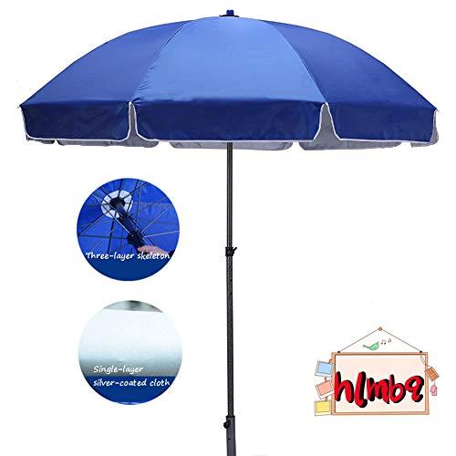 HLMBQ Garden umbrella parasol,7/8 Ft Blue for Lawn Deck Backyard outdoor furniture Sun Shade,Windproof Sunbrella UV Protection no base Patio Umbrella