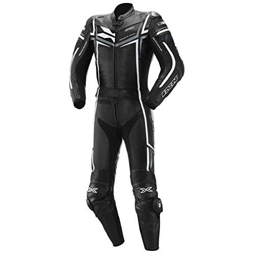 IXS Ray Lederkombi 2tlg, Farbe schwarz-Weiss, Größe 52