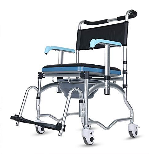 Medizinischer Fahrbarer Abnehmbarer Toilettenstuhl/äLterer Badstuhl/Rollstuhl Mit Bremstransportstuhl