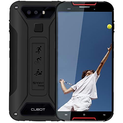 "CUBOT Quest Lite Smartphone ohne vertrag, IP68 Wasserdicht Staubdicht Outdoor Handy, Android 9.0 4G Dual SIM Telefon, 5"" HD Display 3000 mAh Akku, 3GB Ram+32GB Rom, Dual Kamera 13M / 8MP, Schwarz+Rot"