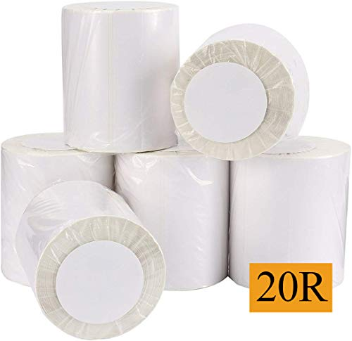 9527 Product 4x6 Blank Direct Thermal Shipping Labels for Zebra 2844 Zp-450 Zp-500 Zp-505,Eltron Printer,250 Labels/Roll,Total 20 Rolls