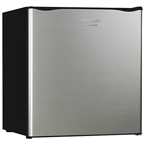 Cecotec Minibar GrandCooler 20000 SilentCompress Inox. Capacidad 46 litros, Compresor incorporado, Temperatura regulable, Clase eficiencia energética A+