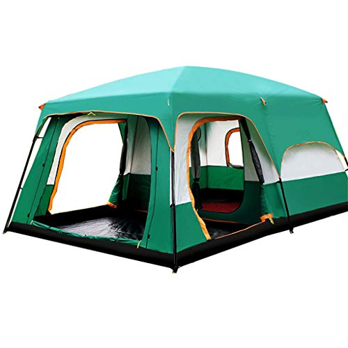 JANSUDY Portable Tent, Also Ideal For Camping In The Garden, Lightweight Camping And Hiking Tent, 100 Percent Waterproof HH 3000 Mm, Sewn-in Groundsheet 8 Man Festival Dome Tent