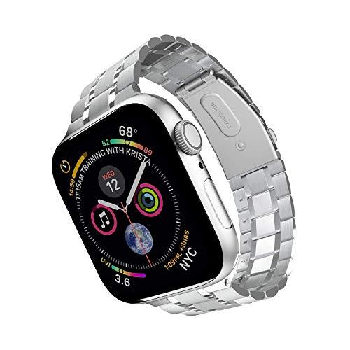 44mm 42mm reloj de reloj para el reloj de Apple, versión actualizada de la versión de reloj de reloj de reloj de acero inoxidable Pulsera de enlace de reemplazo de acero inoxidable, compatible con iWa