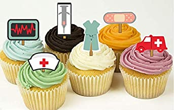12 Nurse Doctor Medical Party Cupcake Toppers Food Picks
