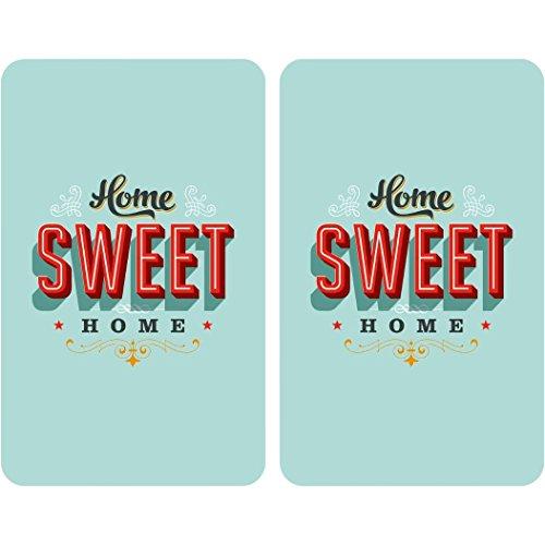 Wenko 2521468100 Herdabdeckplatte Universal Home Sweet Home 2-er Set für alle Herdarten