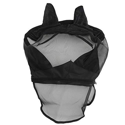 Cubierta de Cara de Caballo-Anti-Mosquitos Desmontable Transpirable Mosca de Caballo Cara Nariz Cubierta Protectora Suministros de Caballos