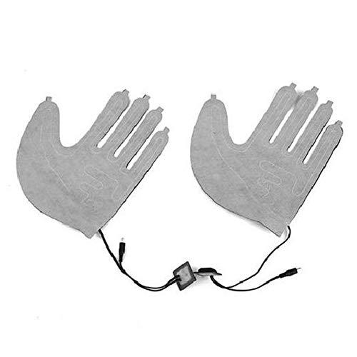 Ljourney DIY Beheizte Handschuhe, Handwärmer,Elektrische Heizung Handschuhe,elektrisch Beheiztes Pad Für Fünf-FingerHandschuhe,USB-Elektroheizkissen Dreistufiger (ohne Handschuhe) Professional