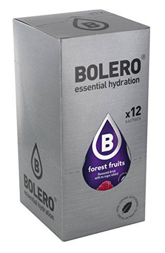 Bolero Bebida Instantánea sin Azúcar, Sabor Frutas del Bosque - Paquete de 12 x 9 gr - Total: 108 gr