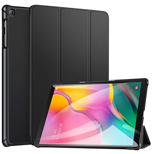 ZtotopCase for Samsung Galaxy Tab A 10.1 2019, Ultra Slim Lightweight Trifold Stand Smart Folio Case Hard Cover for Samsung Tab A 10.1 Inch Tablet SM-T510/SM-T515 2019 Release - Black