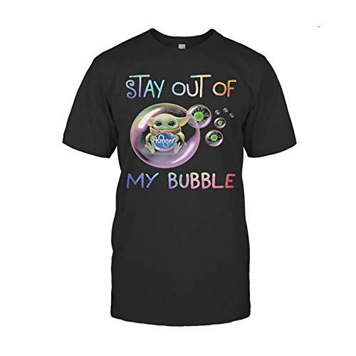 Stär wärs Bäbÿ yödä Hug Kro.Ger Stay Out of My Bubble Cörönävïrüs Shirts Gifts for Men, Women, Crew Neck Short Sleeve Gifts