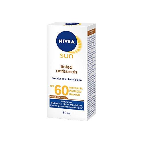 Protetor Solar Facial Nívea Tinted Antissinais Fps 60 50g