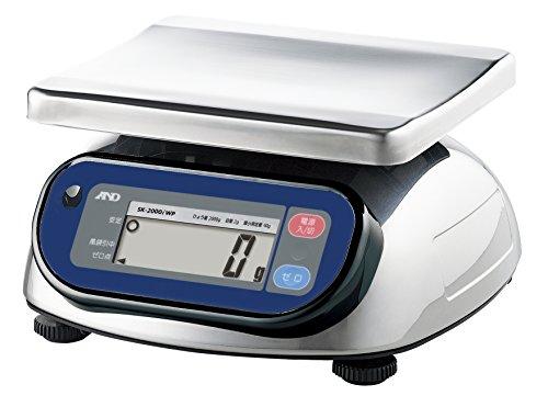 A&D 取引証明用 防塵・防水デジタルはかり SK-2000iWP-A5 ≪ひょう量:2000g 最小表示:2g(使用範囲:40g~2000g) 皿寸法:232(W)*192(D)mm 検定付:5地域≫
