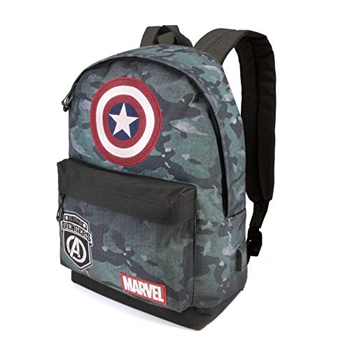 Karactermania Captain America Army-HS Rucksack Zaino Casual, 42 cm, 23 liters, Multicolore (Multicolour)