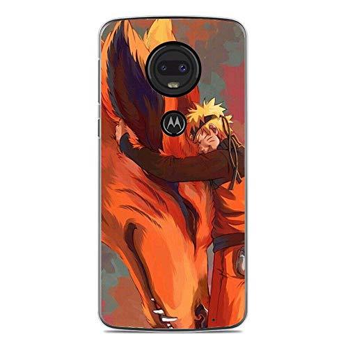 LUOKAOO Case for Moto G7, Naruto-Uzumaki Nine-Tails 7 Ultra TPU Transparent Silicone Rubber Gel Edge Cover Coque Silikon