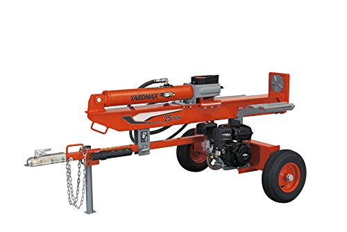 YARDMAX YU2566 25 Ton Full Beam Gas Log Splitter, 4-Way Wedge, Briggs & Stratton, CR950, 6.5HP,...