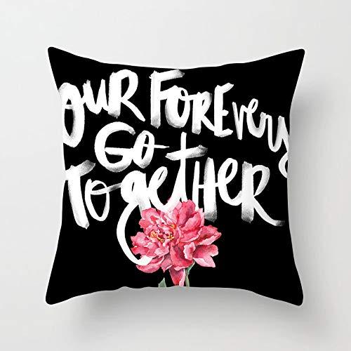 Nueva funda de almohada de abrazo de sofá geométrico, funda de almohada de poliéster rosa para oficina en casa, funda de almohada de piel de melocotón