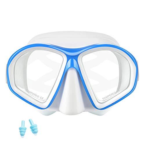 Supertrip Gafas Buceo Niños-Mascara Buceo Easybreath, Gafas Snorkel con Correa Ajustable, Vidrio Templado, Máscara de Snorkel Antifugas, Gafas de Snorkel Antivaho para Adolescentes, Niños y Niñas