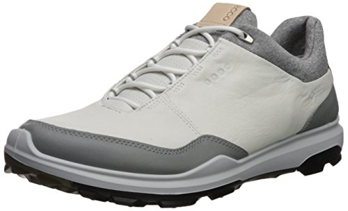 ECCO Men's Biom Hybrid 3 Gore-Tex Golf Shoe, White/Black Yak Leather, 44 M EU (10-10.5 US)