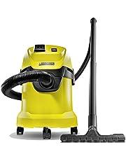Kärcher Multifunctionele stofzuiger WD 3 P (werkelijke zuigvermogen: 200 Air Watt, tankgrootte: 17 l, stopcontact, blaasfunctie, zuigen van droog en nat vuil)