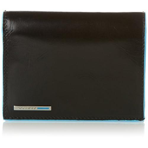 Piquadro PU1740B2 Portafoglio, Collezione Blu Square, Nero