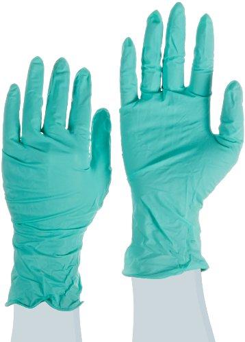 Ansell NeoTouch 25-101 Neoprenhandschuhe, Lebensmittelindustrie, Hellgrün, Größe 6.5-7 (100 Handschuhe pro Spender)