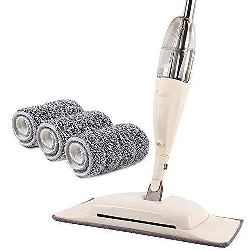 Fregona con rociador 3 en 1 Magic Wash Floor Cleaning Escobas Madera Dura Mopa húmeda Spin Paño de Microfibra Productos de Cocina para el hogar