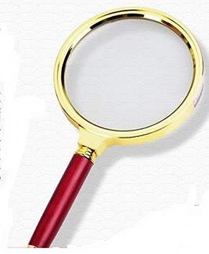 【好縁店舗】 拡大鏡 ルーペ 直径90mm 10倍以上 金色フレーム 老眼鏡 自然観察