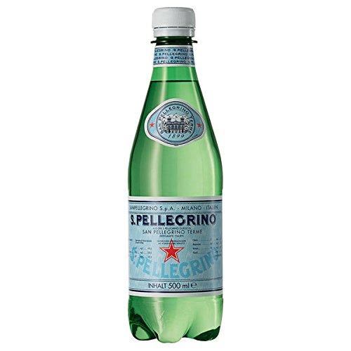 SanPellegrino Natürliches Mineralwasser, 24er Pack, 24 x 500 ml inc. 6.00€ EINWEG Pfand