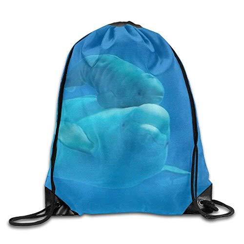 Etryrt Prämie Turnbeutel,Sporttaschen, Drawstring Bag Gym Bag Travel Backpack Cute Animals Canvas Drawstring Bags for Women Men Adults 16.9x14.2