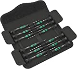 Wera 05073675001 Kraftform Micro-Set/12 Sb 1 Screwdriver Set for Electronic Applications, 12 Pieces