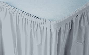 Creative Converting Plastic Table Skirt, 14-Feet, Shimmering Silver